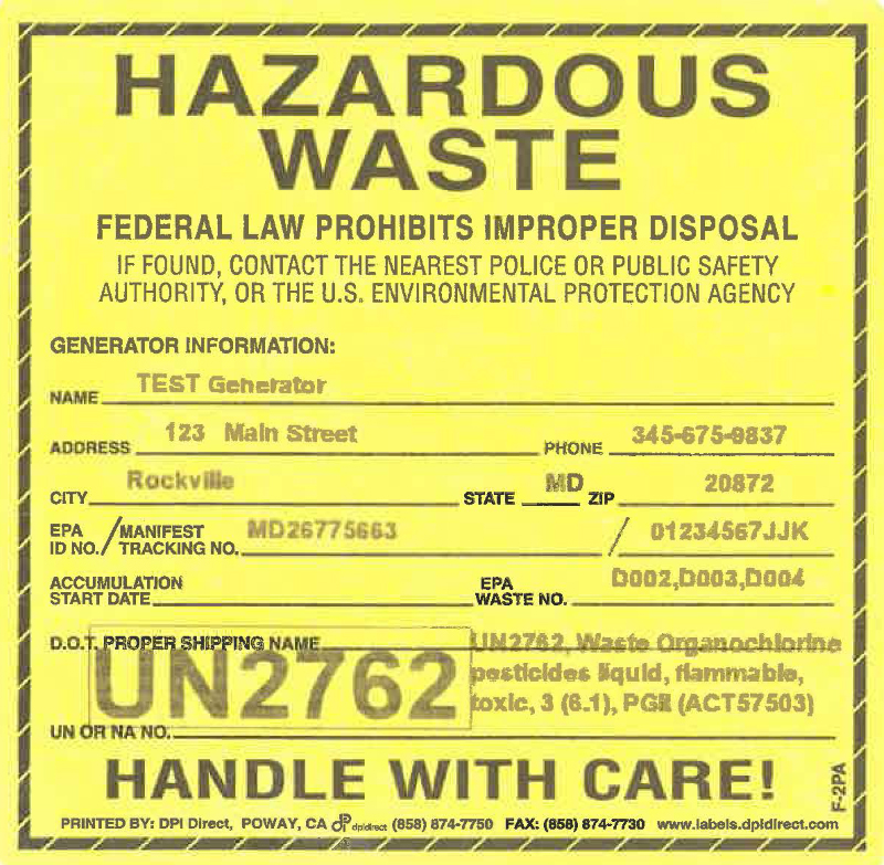 Labeling Hazardous Waste Containers For Off-Site